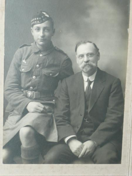 Stanley Withers with his father Frederick Withers