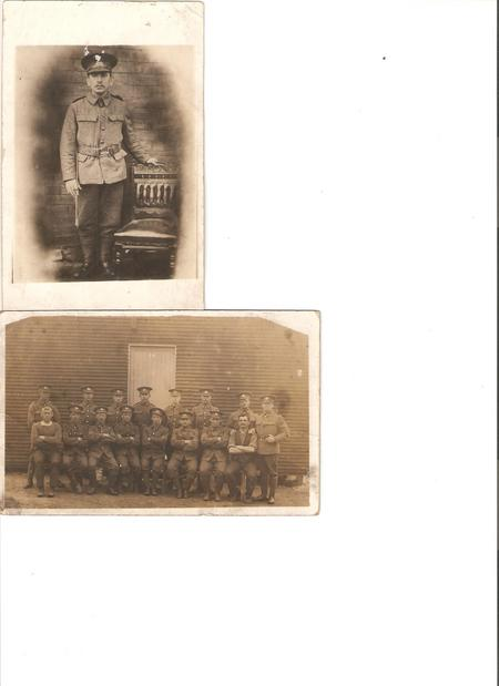 Pte Charles Booth & members of the 12th West Yorks