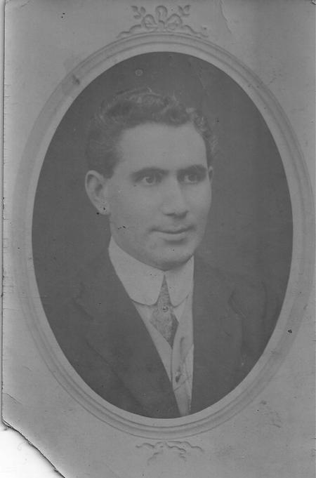 John Robertson as a young man before WW1