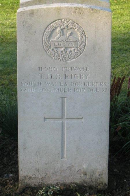 His grave at Cite Bonjean Cemetery, Armentieres, F