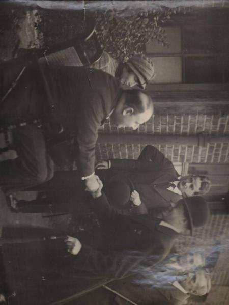 Edward Daniel Milton with King Edward