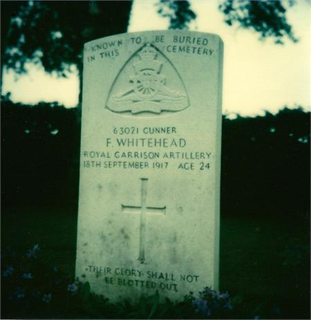 Fred Whitehead's grave