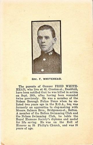 Obituary of Fred Whitehead