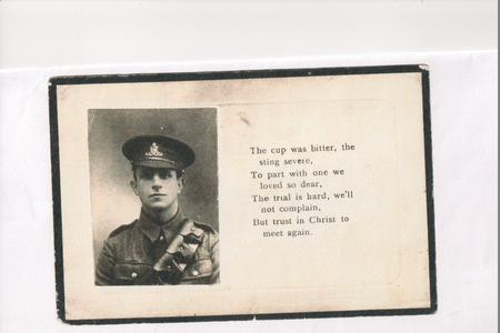 William George Ely Memorial Card