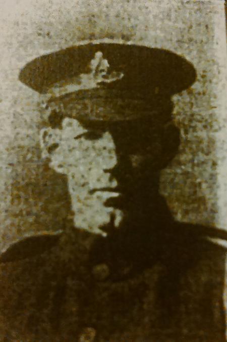 Pte David Bowen, Meifod in uniform