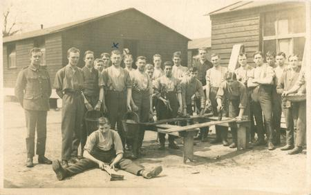 James Brunskill & fellow soldiers at work.