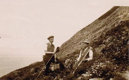 Barry Galbraith & his father John.