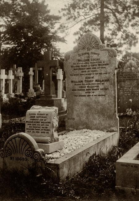 Memorial marker for John Septimus Millachip