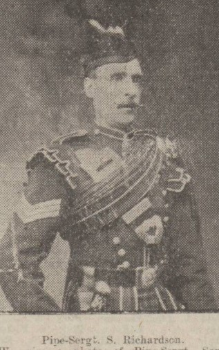 Pipe Sergeant Samuel A. Richardson, Royal Scots