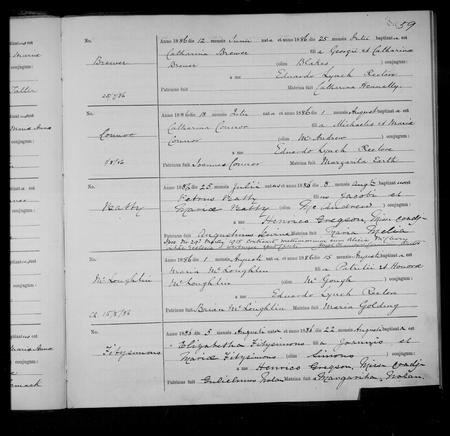 Baptism Certificate 1886 St. Werburgh's Chester
