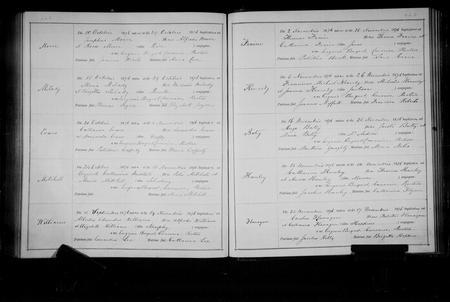 Baptism Register 1876 St. Werburgh's, Chester