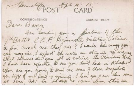 W.H. Webb postcard to B.F. Galbraith