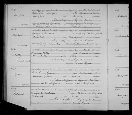 Baptism Register 1896 St. Werburgh's, Chester