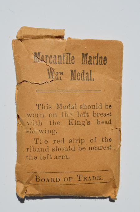 Mercantile Marine War Medal envelope