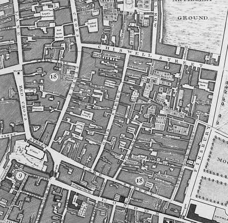 Grub Street (Milton Street) London 1746