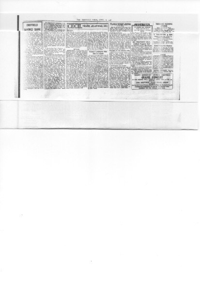 Copy of newspaper article