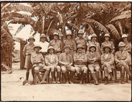 British Army Officers group in Africa, 1917-1919