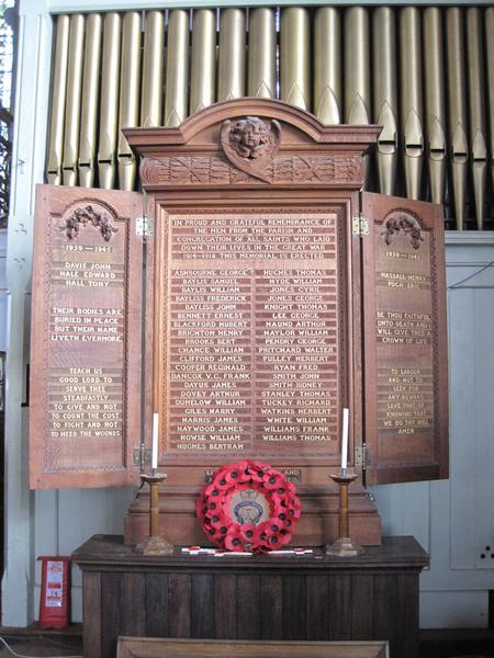 War memorial, All Saints Church, Worcester