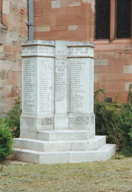 War memorial St John in Bedwardine, Worcester