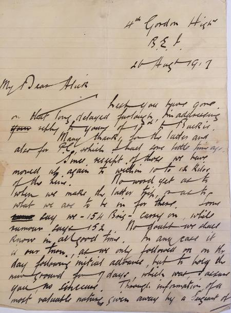 17 page letter home from The Front