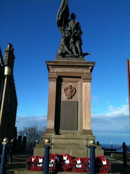 Buckie War Memorial 100 years after WW1