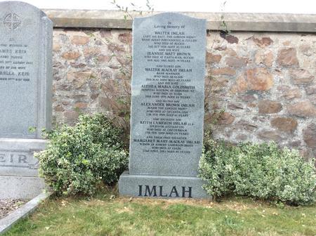 The Imlah Family Grave, Burnside, Buckie