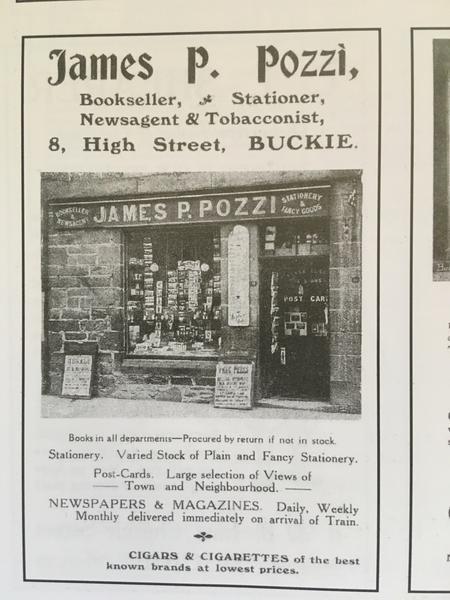 The famous Pozzi's shop, High St., Buckie