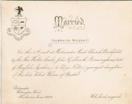 Galbraith-Wilson marriage announcement