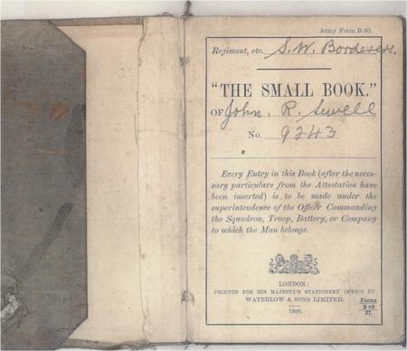 Extract from John's Soldier's Small Book