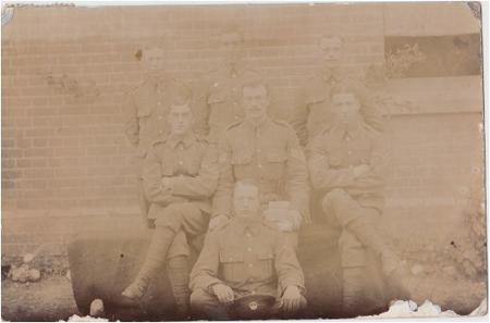 1907 picture postcard of SWB soldiers