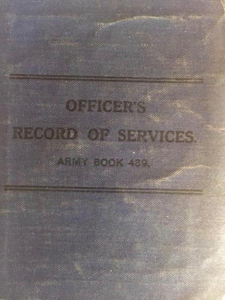 Walter Imlah's 'Officer's Record Book'