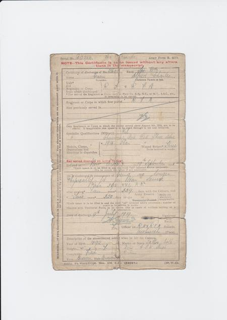 Dicharge Certificate
