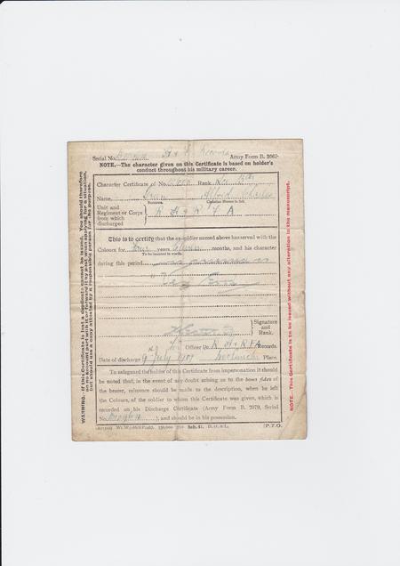 Conduct Certificate