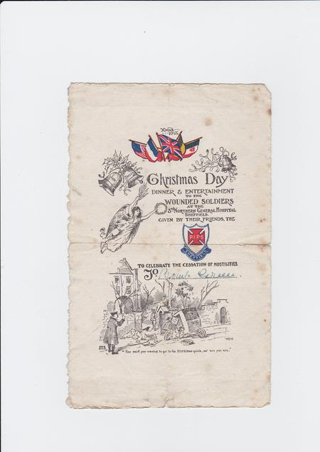 Christmas Day 1918 Party Invitation