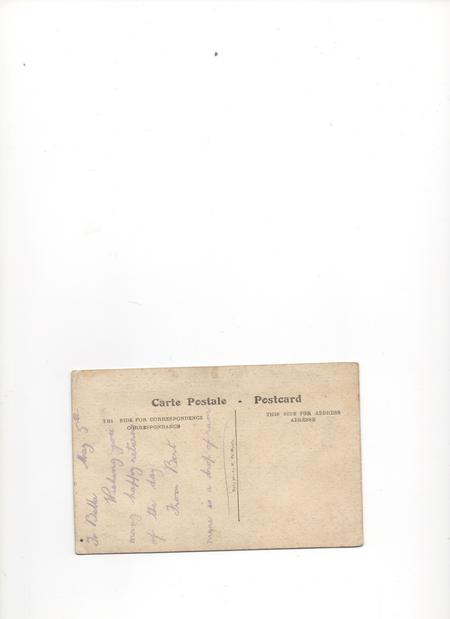 Reverse of Post Card from the Front
