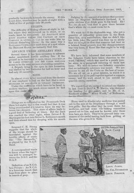 The Honk, 18 January 1916, p.6