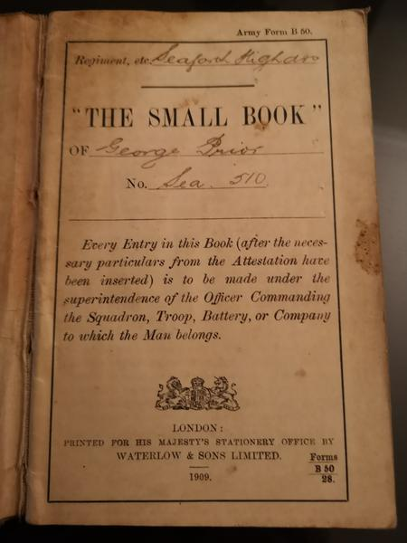 The Soldiers' Small book. Page one.