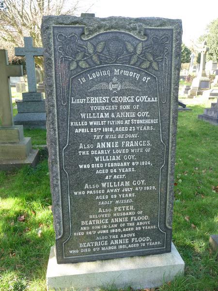 Grave of E G Goy