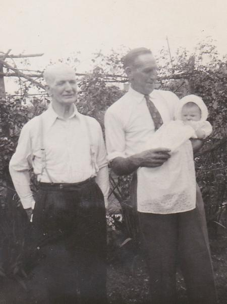 Proud Grandfathers on my Christening Day