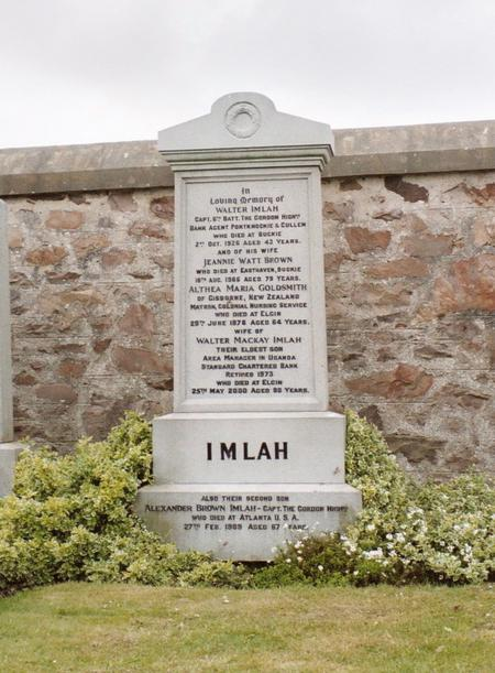 The Original Imlah Headstone, Buckie
