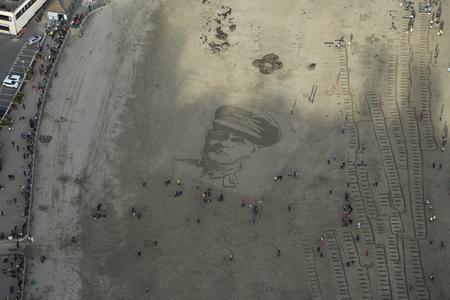 Portrait of Kenneth Grigson, East Looe Beach