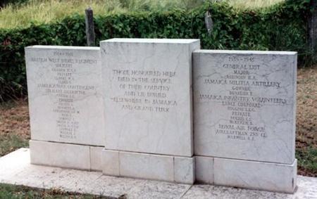 Up Park Camp Cemetery Memorial No 2