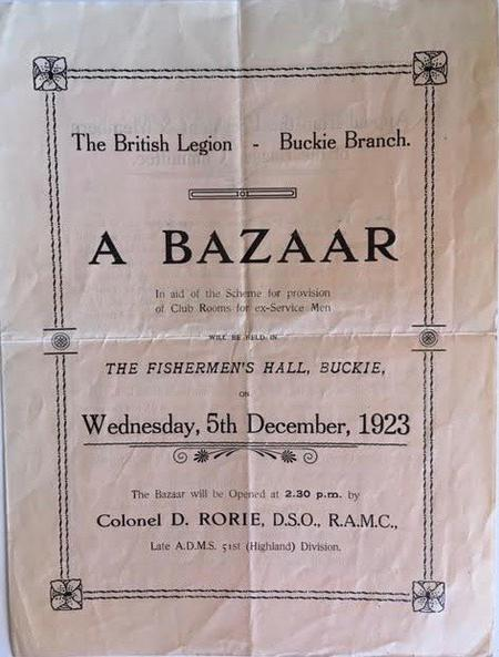 British Legion - Buckie Branch 1923 Bazaar