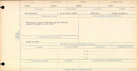 Circumstances of Casualty - Canada Records