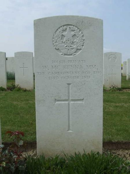 Grave of Private William McKenna