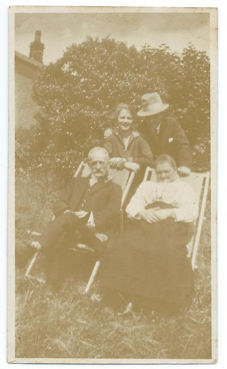 William Pye with his parents and wife