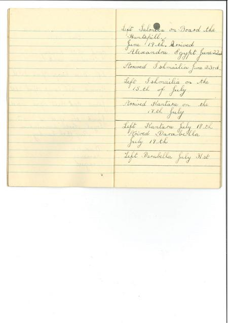 Diary page 4