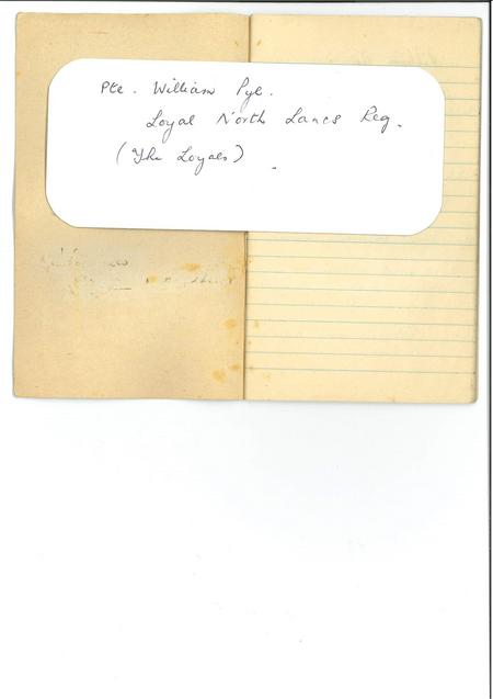 Front page of diary