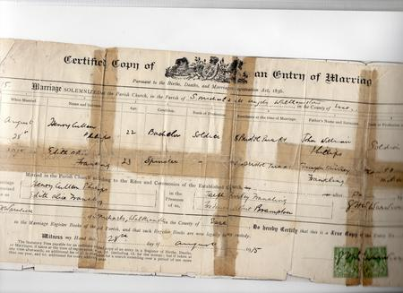 Marriage Certificate of Henry Cullen Phillips