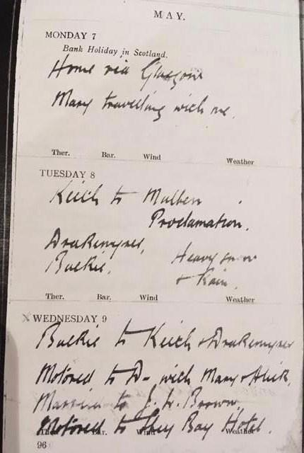 Walter Imlah War Diary & Wedding 1917